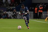 28th September 2021, Parc des Princes, Paris, France: Champions league football, Paris-Saint-Germain versus Manchester City:  Idrissa Gueye ( 27 - PSG )