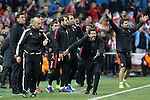 Atletico de Madrid's coach Diego Pablo Simeone during Champions League 2015/2016 Quarter-Finals 2nd leg match. April 13,2016. (ALTERPHOTOS/Acero)