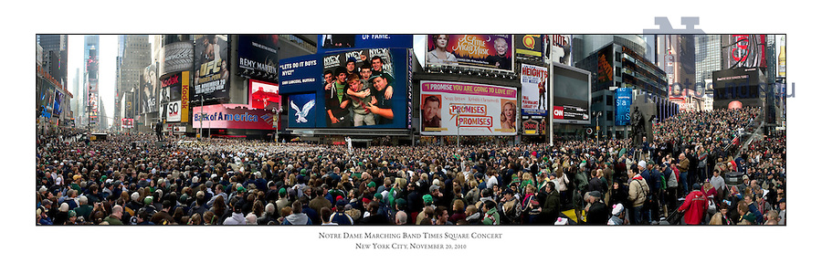 Nov. 20, 2010; Notre Dame Marching Band concert in Times Square..Photo by Matt Cashore/University of Notre Dame