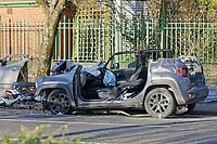 2020 11 27 serious crash outside Victoria Park in Swansea, Wales, UK