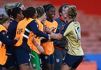 USA celebrate the goal of Kristie Mewis..FIFA U17 Women's World Cup, USA v Korea Republic, Waikato Stadium, Hamilton, New Zealand, Sunday 9 November 2008. Photo: Renee McKay/PHOTOSPORT