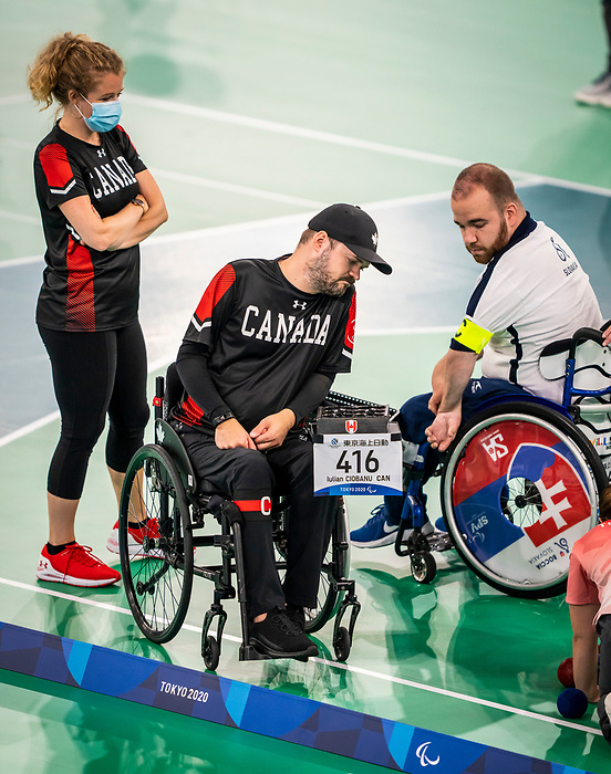 Iulian Ciobanu, Tokyo 2020 - Boccia.<br /> Canada competes against Slovakia in pairs BC4 boccia // Le Canada affronte la Slovaquie en paires de boccia BC4. 09/03/2021.