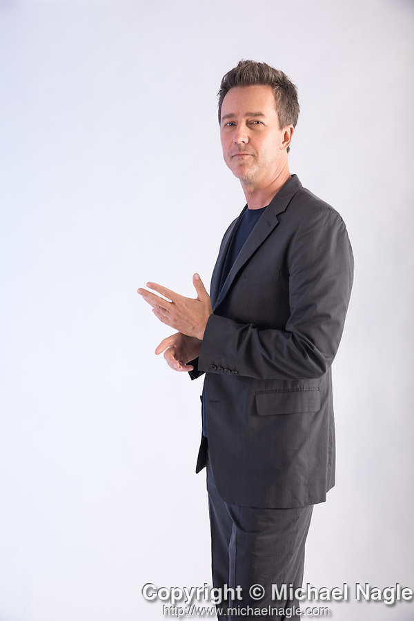 """NEW YORK, NY — 10/10/19:  Edward Norton, writer, actor and director of """"Motherless Brooklyn,"""" poses for a portrait at The Whitby Hotel on Thursday, October 10, 2019 in New York City.  Photograph by Michael Nagle"""