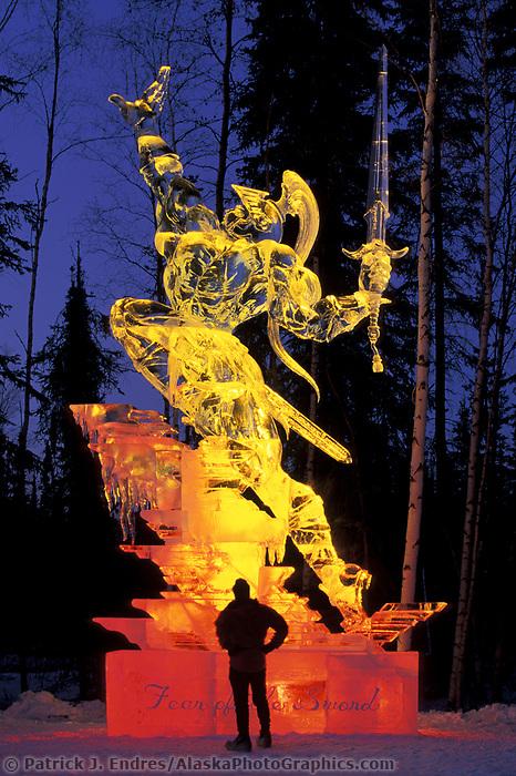 Multi Block Ice sculpture by Junichi Nakamura, at the World Ice Art Championships held each march in Fairbanks, Alaska