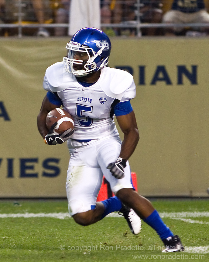 Buffalo wide receiver Terrell Jackson. The Pittsburgh Panthers beat the Buffalo Bulls 35-16 at Heinz field in Pittsburgh, Pennsylvania on September 3, 2011