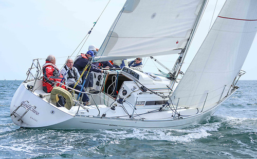 Paddy Maguire's Gwili II from the Royal St. George Yacht Club was third in the DBSC Sigma 33/Cruisers 2 race