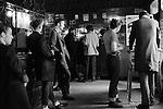 Teddy Boys wearing their distinctive drape jacket east London Black Raven pub. Whitechapel London 1970s Britian.