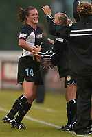 Wynne McIntosh celebrates her first goal as a member of the New York Power during the team's 3-2 loss to the Carolina Courage on June 26th at Mitchel Athletic Complex.