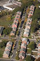 Mill housing at Berkeley, aerial view, Blackstone river aerial, RI