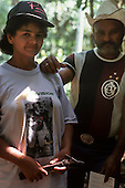 Xapuri, Acre State, Brazil. Rubber tapper and his wife; she is holding a rubber tapping tool.