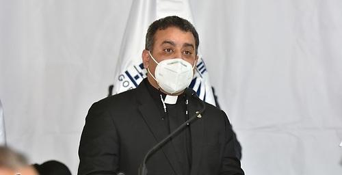Rvdo. P. doctor Isaac García de la Cruz, Vice-Rector Ejecutivo de la Universidad Católica Nordestana (UCNE)