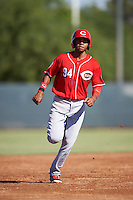 Cincinnati Reds Gabriel Ovalle (94) during an Instructional League game against the Milwaukee Brewers on October 14, 2016 at the Maryvale Baseball Park Training Complex in Maryvale, Arizona.  (Mike Janes/Four Seam Images)