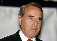 Chicago Illinois, USA, August 21, 1987 <br /> United States Senator Robert Dole (R-KS) speaking at a Republican Party fundraiser <br /> CAP/MPI/MRN<br /> ©MRNJ/MPI/Capital Pictures