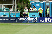 Photographer Gav Ellis is surrounded by toilets, grass bins and safety stewards during Essex Eagles vs Hampshire Hawks, Vitality Blast T20 Cricket at The Cloudfm County Ground on 11th June 2021