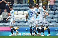 Blackburn Rovers' Ben Brereton celebrates scoring the opening goal with team-mate Adam Armstrong<br /> <br /> Photographer Kevin Barnes/CameraSport<br /> <br /> The EFL Sky Bet Championship - Blackburn Rovers v Bolton Wanderers - Monday 22nd April 2019 - Ewood Park - Blackburn<br /> <br /> World Copyright © 2019 CameraSport. All rights reserved. 43 Linden Ave. Countesthorpe. Leicester. England. LE8 5PG - Tel: +44 (0) 116 277 4147 - admin@camerasport.com - www.camerasport.com
