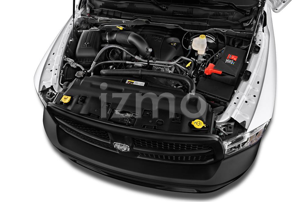 High angle engine detail of a  <br /> 2017 Dodge Ram 1500 Tradesman Regular Cab