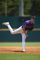 Kade Woods (32) of Ouachita Christian School in Monroe, LA playing for the Colorado Rockies scout team during the East Coast Pro Showcase at the Hoover Met Complex on August 4, 2020 in Hoover, AL. (Brian Westerholt/Four Seam Images)