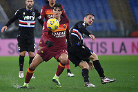 Gonzalo Villar of AS Roma and Valerio Verre of UC Sampdoria compete for the ball during the Serie A football match between AS Roma and UC Sampdoria at Olimpico stadium in Roma (Italy), January 3rd, 2021. Photo Andrea Staccioli / Insidefoto
