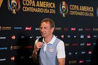 Santa Clara, CA. - June 3, 2016: The U.S. Men's national team go up against Colombia in their opening match at the 2016 Copa America Centenario at Levi's stadium.