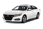 2018 Honda Accord EX 4 Door Sedan angular front stock photos of front three quarter view