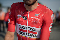 Kris Boeckmans (BEL/Lotto-Soudal) after a hot day on the bike<br /> <br /> 70th Halle Ingooigem 2017 (1.1)<br /> 1 Day Race: Halle > Ingooigem (201km)