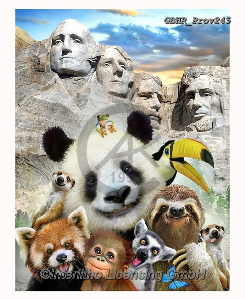 Howard, REALISTIC ANIMALS, REALISTISCHE TIERE, ANIMALES REALISTICOS, selfies,panda,mount rushmore, paintings+++++,GBHRPROV245,#a#, EVERYDAY