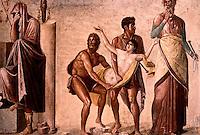 Roman Art:  Fresco--Sacrifice of Ifigenia.  National Museum, Naples.
