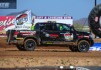 Apr 16, 2011; Surprise, AZ USA; LOORRS toyota support vehicle pace truck during round 3 at Speedworld Off Road Park. Mandatory Credit: Mark J. Rebilas-