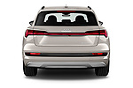 Straight rear view of a 2019 Audi e-tron Advanced 5 Door SUV stock images