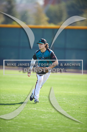 Miko Rodriguez (5) of Forest Hills Central High School in Ada, Michigan during the Under Armour All-American Pre-Season Tournament presented by Baseball Factory on January 14, 2017 at Sloan Park in Mesa, Arizona.  (Mike Janes/Mike Janes Photography)