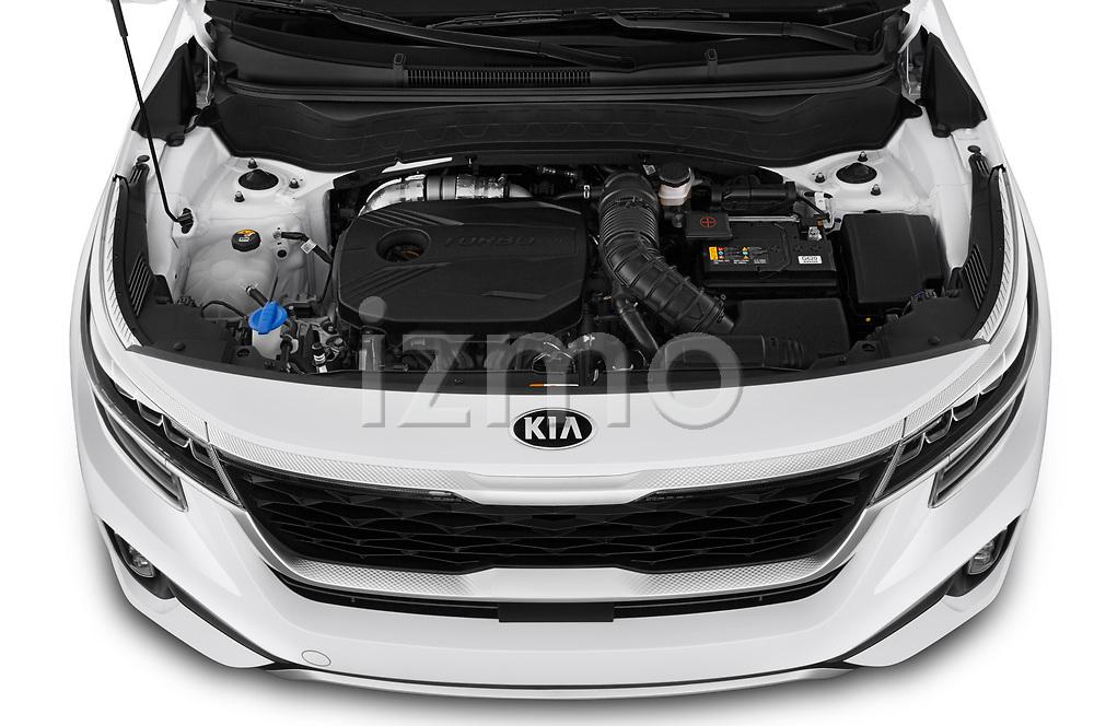 High angle engine detail of a 2021 KIA Seltos SX 5 Door SUV