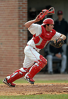 Mike Lopez of the Cornell Big Red during a game vs. the Harvard Crimson at O'Donnell Field in Cambridge, Massachusetts on April 10, 2011. Harvard and Cornell split a doubleheader, with the Crimson taking the first game 11-8, Cornell took the second game by a score of 18-5. Photo by Ken Babbitt /Four Seam Images