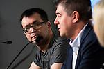 Written Jose Antonio Fideu during the press conference of the Minotaurio Award at Festival de Cine Fantastico de Sitges in Barcelona. October 11, Spain. 2016. (ALTERPHOTOS/BorjaB.Hojas)