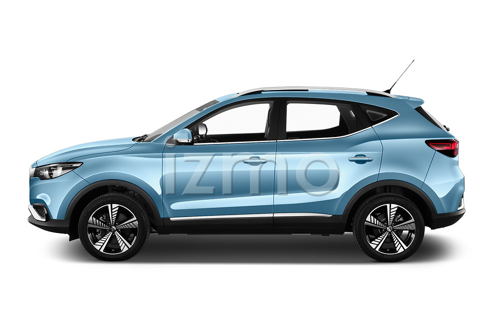 Car Driver side profile view of a 2020 Mg MG-ZS-EV Luxury 5 Door SUV Side View