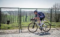 Jasper Philipsen (BEL/Alpecin-Fenix) atop the Taaienberg <br /> <br /> 76th Dwars door Vlaanderen 2021 (MEN1.UWT)<br /> 1 day race from Roeselare to Waregem (184km)<br /> <br /> ©kramon