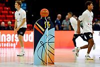 GRONINGEN - Basketbal, Donar - Apollo Amsterdam , Dutch Basketbal League, seizoen 2021-2022, 26-09-2021, wedstrijdbal ligt klaar