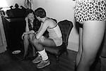 """So called """"Hot Chocolate"""" party named after the pop group of the time. Suburban middle class fancy dress party. Wimbledon SW19. England. 1983."""