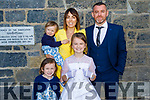 Ella Mai McCarthy receiving her First Holy Communion on Saturday in the Church of the Purification Churchill. L to r : Evie, Millie, Johnny and Ciara McCarthy