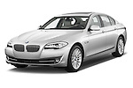 Front three quarter view of a 2013 Bmw SERIES 5 ActiveHybrid 5 4 Door Sedan 2WD