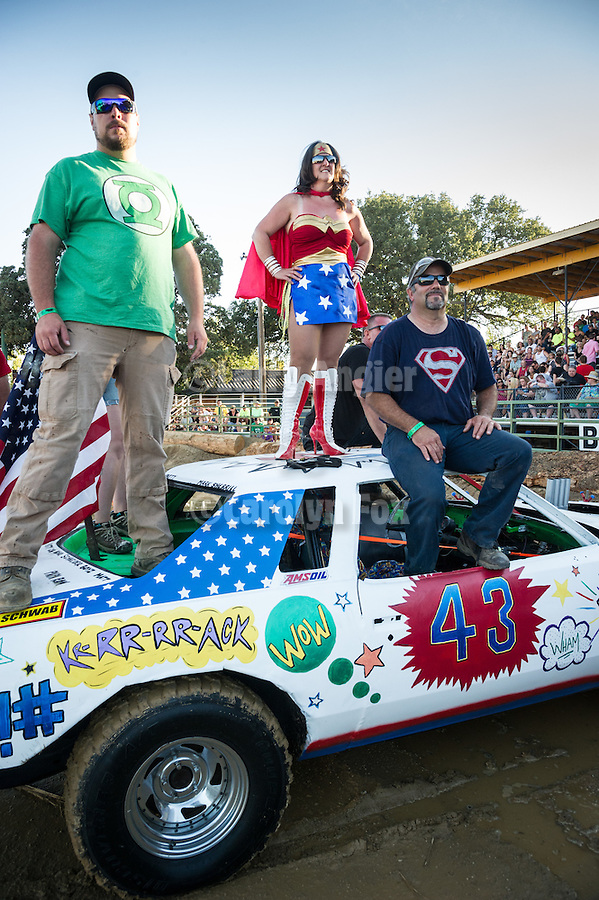4th day of the 76th Amador County Fair, Plymouth, Calif.<br /> <br /> Destruction Derby beautiful car contest