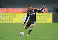 Washington, D.C.- March 29, 2014. Sean Franklin (5) of D.C. United. The Chicago Fire tied D.C. United 2-2 during a Major League Soccer Match for the 2014 season at RFK Stadium.