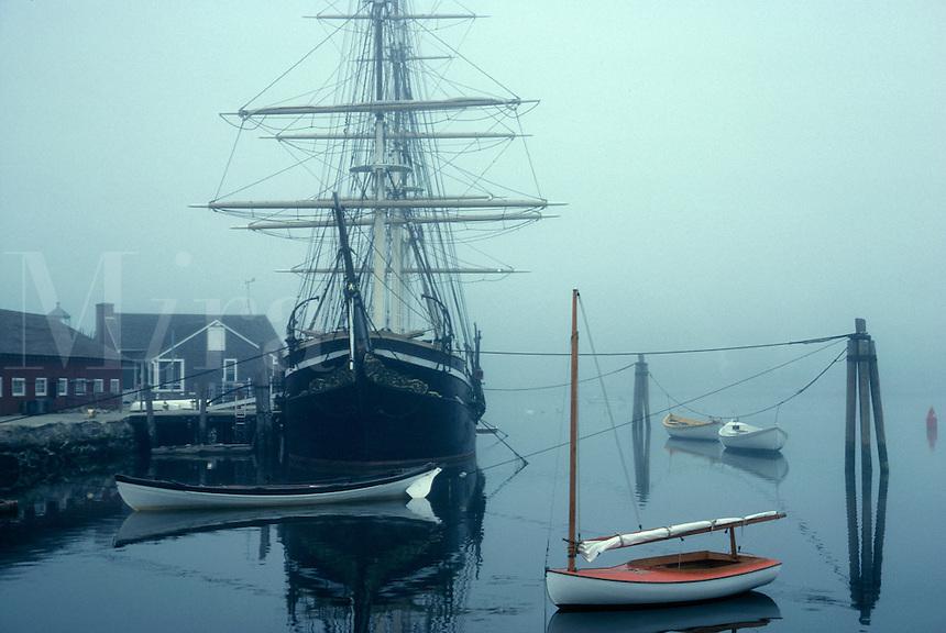 Mystic seaport Joseph Conrad in fog Mystic CT