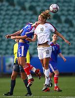 Kristie Mewis (USA) Charlotte Poulain (FRA)..FIFA U17 Women's World Cup, USA v France, Albany Stadium, Auckland, New Zealand, Wednesday 5 November 2008. Photo: Renee McKay/PHOTOSPORT