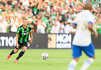 AUSTIN, TX - JUNE 19: Alex Ring #8 of Austin FC looks to pass the ball during a game between San Jose Earthquakes and Austin FC at Q2 Stadium on June 19, 2021 in Austin, Texas.