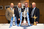 St Johnstone v Dundee...13.09.14  SPFL<br /> Pictured from left with the Scottish Cup and the Ryder cup, are Brian Mair from the PGA, Charlie Fraser St Johnstone vice-Chairman, Stan Harris St Johnstone Director and Sandy Jones from the Ryder Cup<br /> Picture by Graeme Hart.<br /> Copyright Perthshire Picture Agency<br /> Tel: 01738 623350  Mobile: 07990 594431