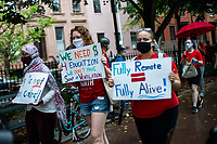 NEW YORK, NEW YORK - SEPTEMBER 31: People march to protest for safe re-opening schools during the COVID-19 pandemic on September 1, 2020 in New York.  NYC Mayor Bill de Blasio announced that school system will delay in-person instructions by at least 11 days to allow extra time to prepare to meet students amid the coronavirus pandemic.. (Photo by Eduardo MunozAlvarez/VIEWpress via GettyImages)