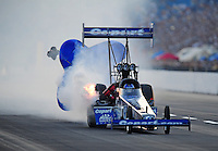 Jul, 9, 2011; Joliet, IL, USA: NHRA top fuel dragster driver Brandon Bernstein during qualifying for the Route 66 Nationals at Route 66 Raceway. Mandatory Credit: Mark J. Rebilas-