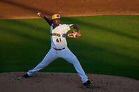 Bradenton Marauders pitcher Luis Ortiz (41) during Game Two of the Low-A Southeast Championship Series against the Tampa Tarpons on September 22, 2021 at LECOM Park in Bradenton, Florida.  (Mike Janes/Four Seam Images)