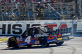 #4: Raphael Lessard, Kyle Busch Motorsports, Toyota Tundra Canac celebrates his win with a burnout