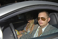 MIAMI BEACH, FL - FEBRUARY 17:  Grammy winning producer SCOTT STORCH Arrested for Coke in Vegas.  Storch tried to hide a baggie of cocaine in a trash can at the Cosmopolitan Hotel in Vegas before cops arrived ... this according to the police report, obtained by TMZ. In the report, the arresting officer says cops fished out the baggie after receiving a tip from hotel security ... and discovered it contained 2.7 grams of blow.--------------------------------------------------------------------------------------------Hip-hop producer Scott Storch -- a recovering drug addict -- was arrested in Vegas earlier this month for possession of cocaine ... TMZ has learned.  According to law enforcement, Storch was arrested at a Vegas hotel around 8:30 AM on Feb. 4. Sources tell us ... the arrest went down after an employee called police to complain that Storch wouldn't pay for his room.  When cops arrived to the scene, we're told officers discovered Storch was in possession of cocaine. Storch was hauled to a nearby police station ... where he was released on $5k bond. Storch -- who has worked with stars like Beyoncé, 50 Cent, Dr. Dre, Snoop, Pink and more -- famously blew a $30 million fortune after getting hooked on drugs back in 2006. He eventually checked into rehab and has been working on his recovery ever since.    on February 17, 2012 in Miami Beach, Florida  <br /> <br /> People:  Paris Hilton_Scott Storch